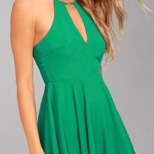 NWT! Green Skater Dress